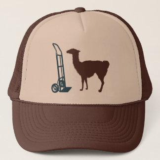 Dolly llama trucker hat