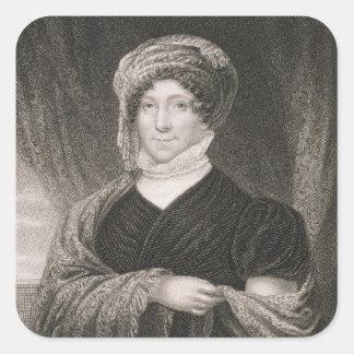 Dolly Madison, engraved by John Francis Eugene Pru Square Sticker