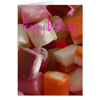 Dolly Mixture Birthday card
