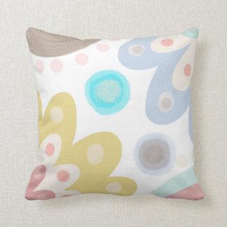 Dolly Mixtures. Large bold daisy flower art design Throw Pillow