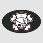 Dolly RN Heart Oval Stickers