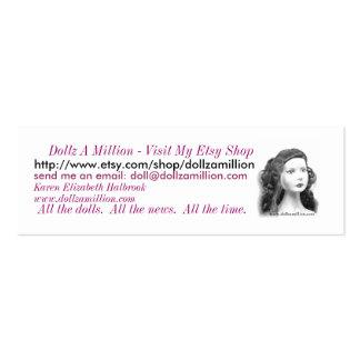 dollzamillion, Dollz A Million - Visit My Etsy ... Pack Of Skinny Business Cards