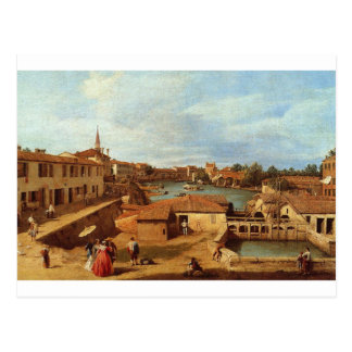 Dolo on the Brenta by Canaletto Postcard