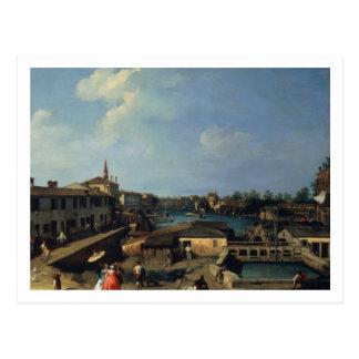 Dolo on the Brenta (oil on canvas) Postcard