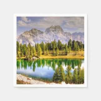 Dolomite Mountains Italy Paper Napkins