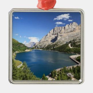 Dolomites - Fedaia lake and pass Christmas Ornament