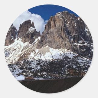 Dolomites, Venetian region, northern Italy Round Sticker
