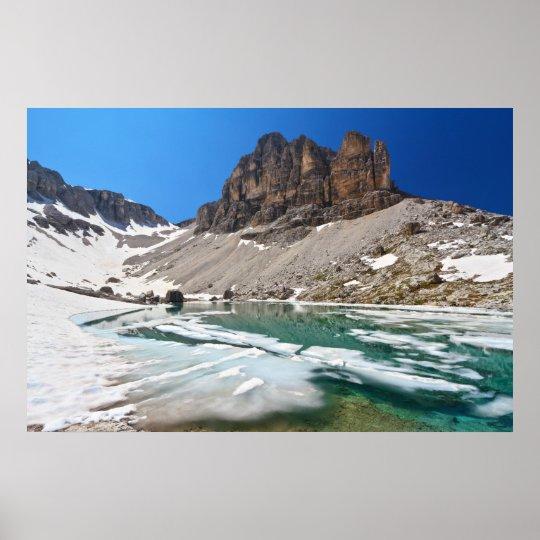 Dolomiti - lake Pisciadu Poster