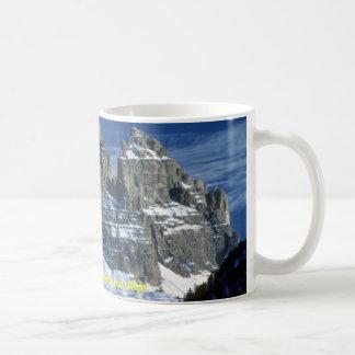 Dolomiti mountains, the Alps Basic White Mug