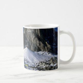 Dolomiti mountains, the Alps Winter Basic White Mug