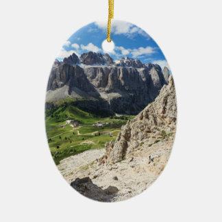 Dolomiti - Sella group and Gardena pass Ceramic Oval Decoration