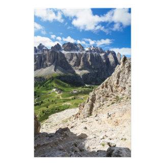 Dolomiti - Sella group and Gardena pass Stationery Paper