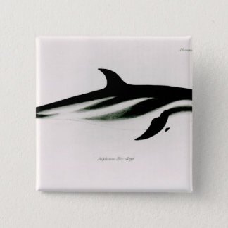 Dolphin 15 Cm Square Badge