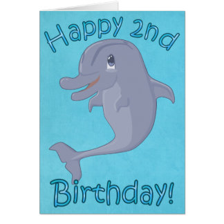 Dolphin 2nd Birthday Card