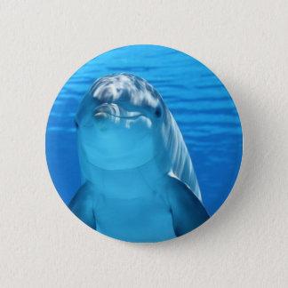 Dolphin 6 Cm Round Badge