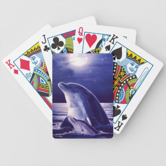 Dolphin and Baby Bicycle Playing Cards