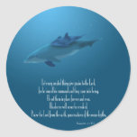 Dolphin and Baby Round Stickers