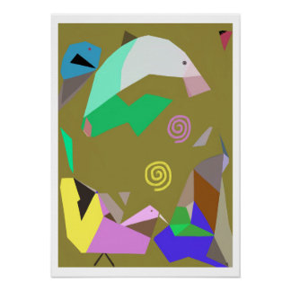 Dolphin and Friends Surreal Art Poster