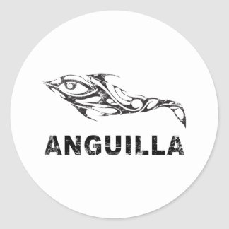 Dolphin Anguilla Round Stickers