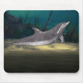 dolphin at play mouse mat