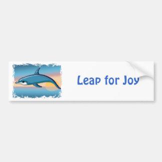 Dolphin at Sunrise Car Bumper Sticker