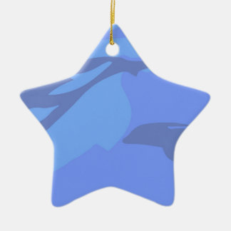 Dolphin Background Christmas Ornament