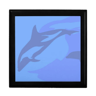 Dolphin Background Gift Box