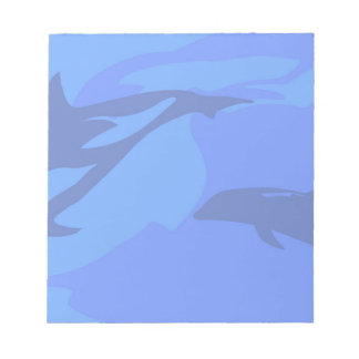 Dolphin Background Notepad