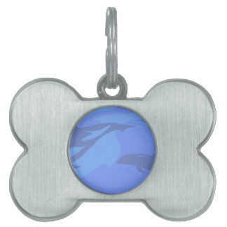Dolphin Background Pet ID Tag