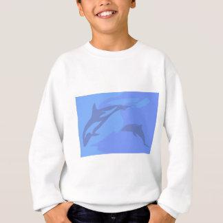 Dolphin Background Sweatshirt