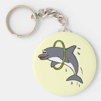 Dolphin Basic Round Button Key Ring
