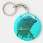 Dolphin Basic Round Button Key Ring