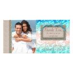 Dolphin Beach Wedding Thank You Photocard Photo Cards