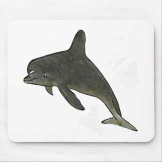Dolphin Black The MUSEUM Zazzle Gifts Mouse Pad