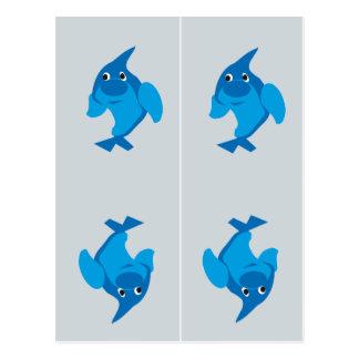 Dolphin Bookmarks Postcard