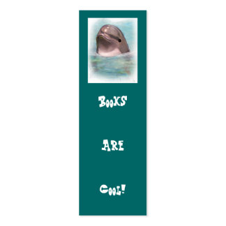 DOLPHIN BOOKS ARE COOL BOOKMARK Double-Sided MINI BUSINESS CARDS (Pack OF 20)