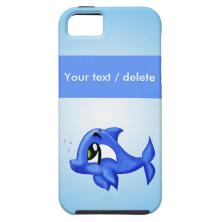 dolphin cartoon illustration case for the iPhone 5
