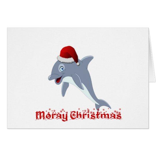 Dolphin Christmas Card