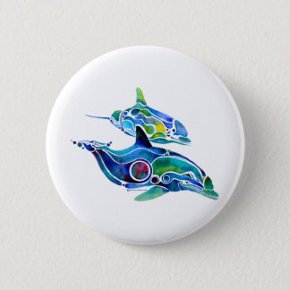 Dolphin Dance 6 Cm Round Badge