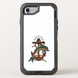 dolphin design OtterBox defender iPhone 7 case