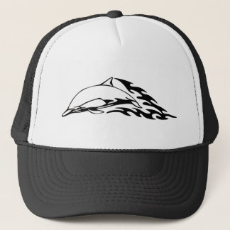 Dolphin designs trucker hat