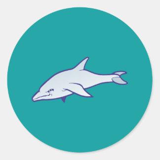 Dolphin dolphin round sticker