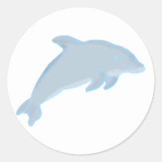 Dolphin dolphin round stickers