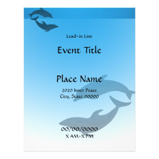 Dolphin Dolphins Event Flyer
