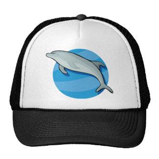 Dolphin Dolphins Marine Mammals Blue Ocean Animal Trucker Hats