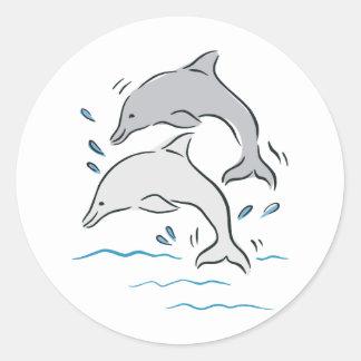 Dolphin Dolphins Marine Mammals Ocean Sticker