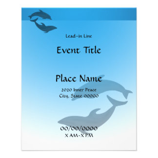 Dolphin Dolphins Small Event Flyer