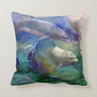 Dolphin Dream Art Designer Pillow
