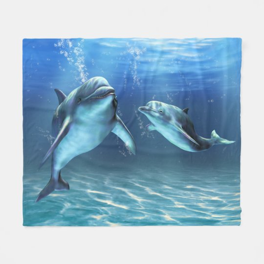Dolphin Dream Fleece Blanket
