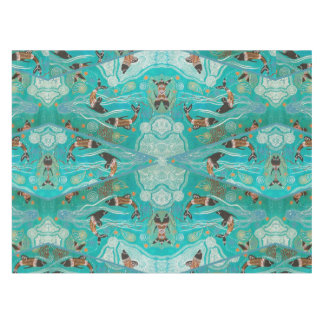 Dolphin Dreaming Aboriginal Art Tablecloth